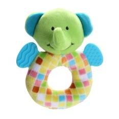 Hình ảnh Cartoon Animal Plush Handbell Doll Baby Developmental Toy (Elephant) (Multicolor) - intl(Multicolor)