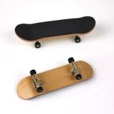 Ôn Tập Cartoon Wooden Fingerboard Finger Skate Board Grit Box Foam Tape Maple Wood Black Intl