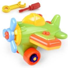 Hình ảnh Children DIY Disassembling Plane Car Building Blocks Model Educational Toys - intl