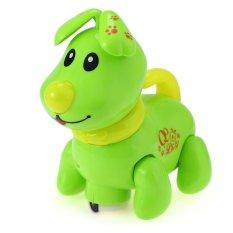 Hình ảnh Trẻ em Âm Nhạc Điện Tử Đi Bộ Chó Con Mầm Non Đồ Chơi Giáo Dục xanh lá-quốc tế