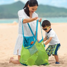 Children Sand Away Beach Mesh Bag Toys Clothes Towel Baby Toy Collection Nappy Green - intl