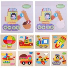 Hình ảnh Trẻ em Đồ Chơi Gỗ Hình Thú Hoạt Hình 3D Xếp Hình Trí Tuệ Giáo Dục Đồ Chơi-quốc tế