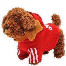 Hình ảnh Chó Nhồi Bông Biết Đi Biết Hát 26 Bài Cho Bé (Đỏ)