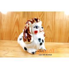 Hình ảnh Chó tiểu thư tiết kiệm gốm sứ Bát Tràng