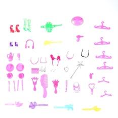Hình ảnh Đêm giáng sinh 50 cái Búp Bê Phụ Kiện Giày Túi Gương Móc Treo Lược Vòng Tay cho Búp Bê Barbie- quốc tế