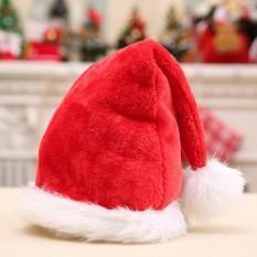 Hình ảnh Christmas Hats Santa Claus Red Decor Cottton Christmas Babykid Toys Red - intl