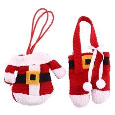Hình ảnh Quần áo Giáng Sinh Ông Già Noel Kinfe Kiềng Bạc Giữ Trang Trí Trang Trí-quốc tế