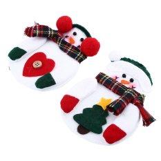 Hình ảnh Quần áo Quần Giáng Sinh Người Tuyết Bộ Đồ Ăn Kinfe Kiềng Bạc Giữ Trang Trí-quốc tế