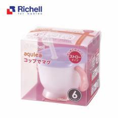Cốc tập uống 3 giai đoạn Richell (tay hồng) RC41012