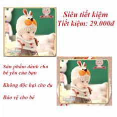 Bán Combo 2 Bộ Đoi Mũ Len Kem Khăn Quang Cổ Hinh Tai Thỏ Đang Yeu Cho Be Mau Kem Đồng Nai Rẻ