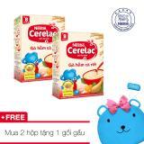 Mã Khuyến Mại Combo 2 Hộp Bột Ăn Dặm Nestle Cerelac Ga Hầm Ca Rốt Tặng 1 Gối Gấu Xinh Xắn