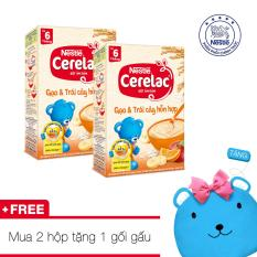Ôn Tập Combo 2 Hộp Bột Ăn Dặm Nestle Cerelac Gạo Trai Cay Hỗn Hợp Tặng 1 Gối Gấu Xinh Xắn