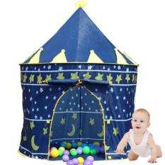 Hình ảnh COMBO 2 Lều bóng lâu đài hoàng tử cho bé(Xanh)