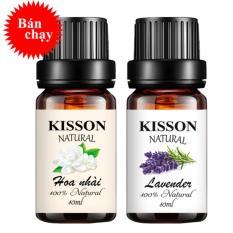 Combo 2 tinh dầu thiên nhiên KISSON oải hương lavender 10ml và  hoa nhài 10ml