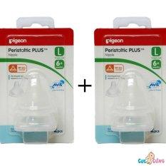 Combo 2 Vỉ Ty Binh Sữa Pigeon Silicone Plus Cổ Rộng Size L 2 Cai Vỉ Hồ Chí Minh Chiết Khấu