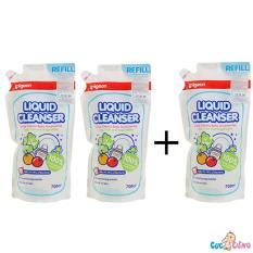 Chiết Khấu Combo 3 Bịch Nước Rửa Binh Sữa Pigeon 700Ml Hồ Chí Minh