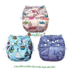 Combo 3 Bộ tã vải BabyCute (1 ngày, 2 đêm) size L (14-24kg)