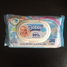 Combo 3 gói khăn ướt Bobby không hương 99% nước tinh khiết
