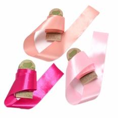 Hình ảnh Combo 3 gói ruy băng lụa 4cm hồng nhạt, hồng đậm, nude (3m/gói) CR3