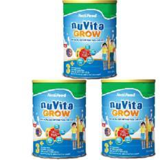 Bán Combo 3 Hộp Nuvita Grow 3 900 Gr Dinh Dưỡng Đặc Chế Phat Triển Chiều Cao Tối Đa Cho Trẻ Từ 3 Tuổi Trở Len Nutifood