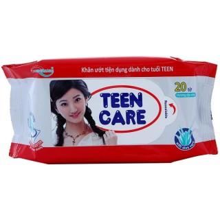 Combo 5 gói Khăn ướt Teen Care đỏ hương Dịu nhẹ gói 20 tờ thumbnail