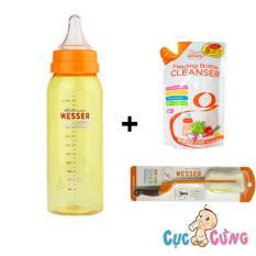 Chiết Khấu Combo Binh Sữa Wesser Nano Silver 250Ml Cọ Rửa Wesser Nước Rữa Wesser 500Ml Hồ Chí Minh