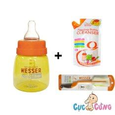 Combo Binh Sữa Wesser Nano Silver 60Ml Cọ Rửa Wesser Nước Rữa Wesser 500Ml Hồ Chí Minh Chiết Khấu