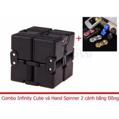Hình ảnh Combo Khối quay lập phương Infinity Cube + Hand Spinner 2 cánh bằng ĐỒNG Legaxi IC03