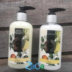 Combo Tinh dầu gội, xã tóc giảm thiểu rụng tóc cho mẹ bầu sau sinh Citrus thiên nhiên 250ml