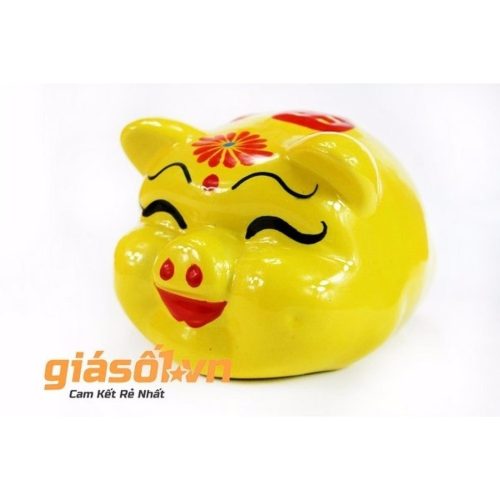 Hình ảnh Con heo,con lợn vàng tiết kiệm Bát Tràng 22x20x20 (VÀNG)