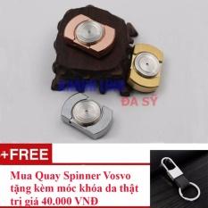 Hình ảnh Con quay hồi chuyển Spinner Khánh Linh (màu bạc) + tặng kèm 01 móc chìa khóa