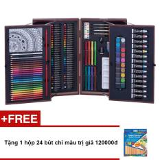 Hình ảnh Bộ màu vẽ đa năng cao cấp Colormate MS195 + Tặng 1 hộp 24 bút chì màu trị giá 120000đ
