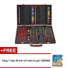 Hình ảnh Bút màu hộp gỗ Colormate MS106 + Tặng 1 hộp 24 bút chì màu trị giá 120000đ