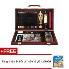Hình ảnh Bút màu hộp kim loại Colormate MS76 + Tặng 1 hộp 24 bút chì màu trị giá 120000đ