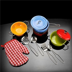 Hình ảnh Đồ Chơi nấu ăn Bộ Nồi Inox Chảo Bếp Giả Vờ Chơi Đồ Chơi Nồi Bộ Đồ Chơi-quốc tế