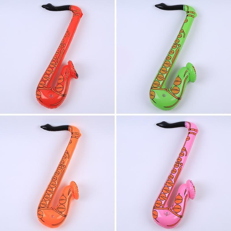 Thoáng Mát Cho Bé Bơm Hơi Sax Saxophone Màu Ngẫu Nhiên Nổ Gà Mái/stag Thiết Kế Ban Đầu-Quốc Tế