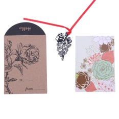 Hình ảnh Creative DIY Black Metal Bookmark (for Book Paper Lovely Stationery Gift)(Brown)-D - intl