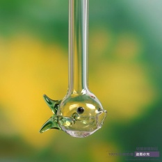 Hình ảnh Sáng tạo Tinh Thể Trong Suốt Kính Ống Hút Khuấy Miltifunction Hình Cá Uống Ống Lễ Hội Quà Tặng-intl
