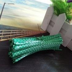 Hình ảnh Cute 100Pcs Metallic Dot Twist Ties Wire Bag Fastener Sealing For Cake Pops Green 0.04CM*10CM - intl