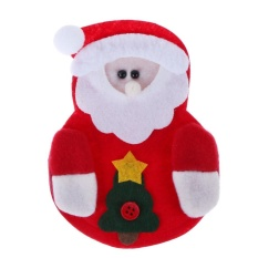 Hình ảnh Cutlery Bag Fork Cutter Pocket Tableware Pouch Christmas Decor(Red) - intl