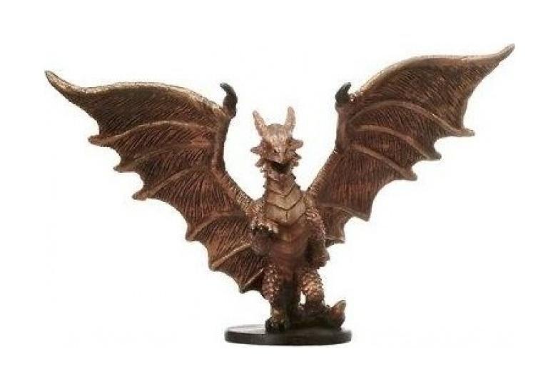 D D Minis: Medium Copper Dragon # 20