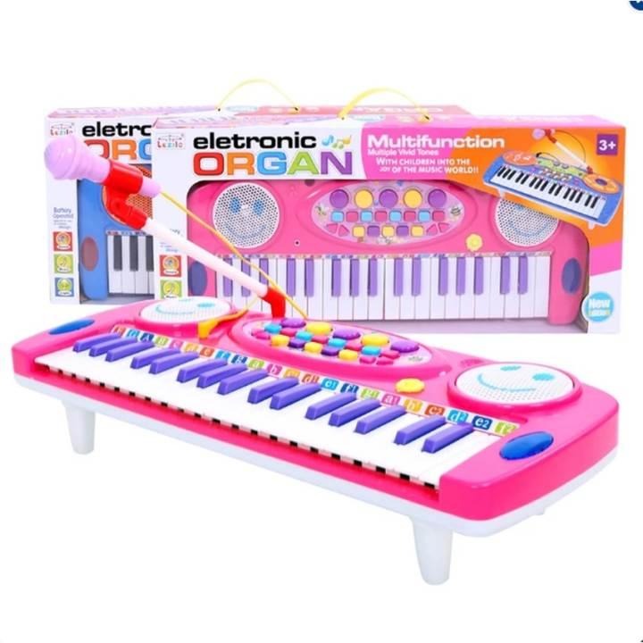 Đàn Organ điện tử kèm Micro cho bé yêu phát triển trí não (Hồng)