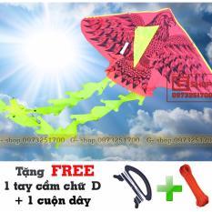 Hình ảnh Diều Việt Nam : Đại Bàng Đen 01 - 2 Đuôi + Tặng FREE tay cầm và cuộn dây