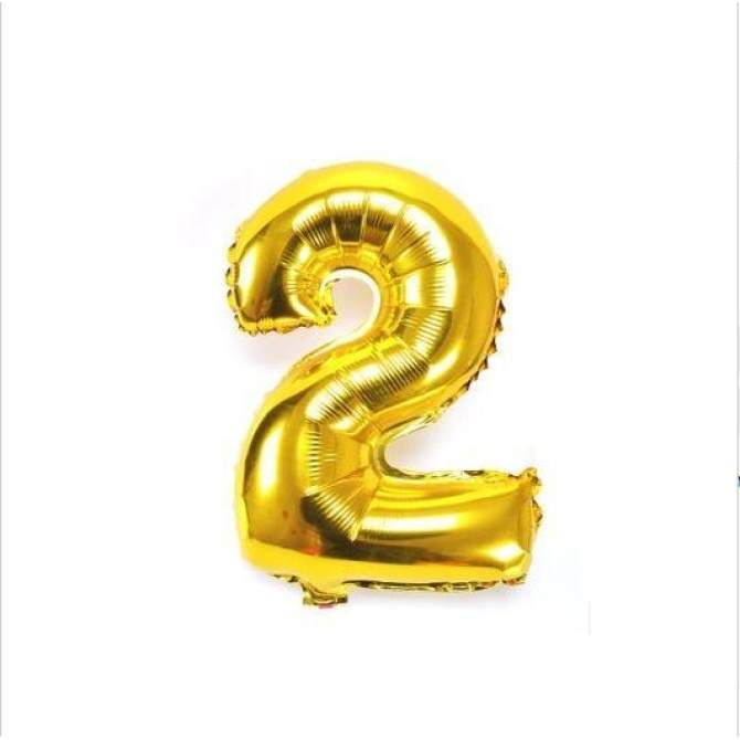 Digit Number 2 Foil Balloons New Years Eve Party Name - intlchỉ 43.477 ₫