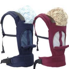 Địu trẻ em 3 tư thế có mũ che và đai hông trợ lực