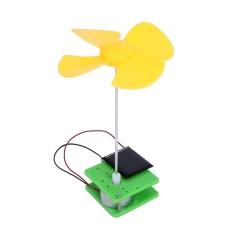 Hình ảnh TỰ Lắp Ráp Hoa Quay Quạt Vật Lý Năng Lượng Mặt Trời Đồ Chơi (Đen)-quốc tế