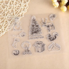 Hình ảnh DIY Christmas Silicone Transparent Stamp Sheet Seal Scrapbooking Album Decor - intl