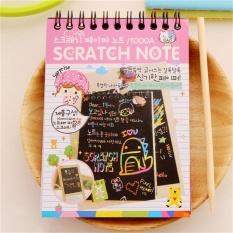 Hình ảnh MÔ HÌNH NHÀ GỖ DIY Cute Đáng Xách Tay Đen Trang Vẽ Ma Thuật Sách Tranh Notepad dành cho Trẻ Em Màu Hồng-intl