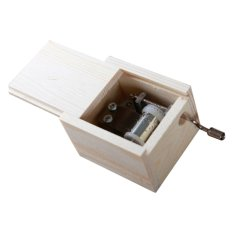 Hình ảnh DIY Mechanical Hand Crank Wooden Music Box - Intl