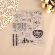 Hình ảnh DIY Silicone Transparent Stamp Sheet Seal Scrapbooking Album Christmas Gift Decor - intl